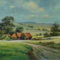 farm-buildings-chess-valley-oil-16x12