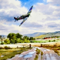 Spitfire VB over the Vale of Aylesbury   W/Col